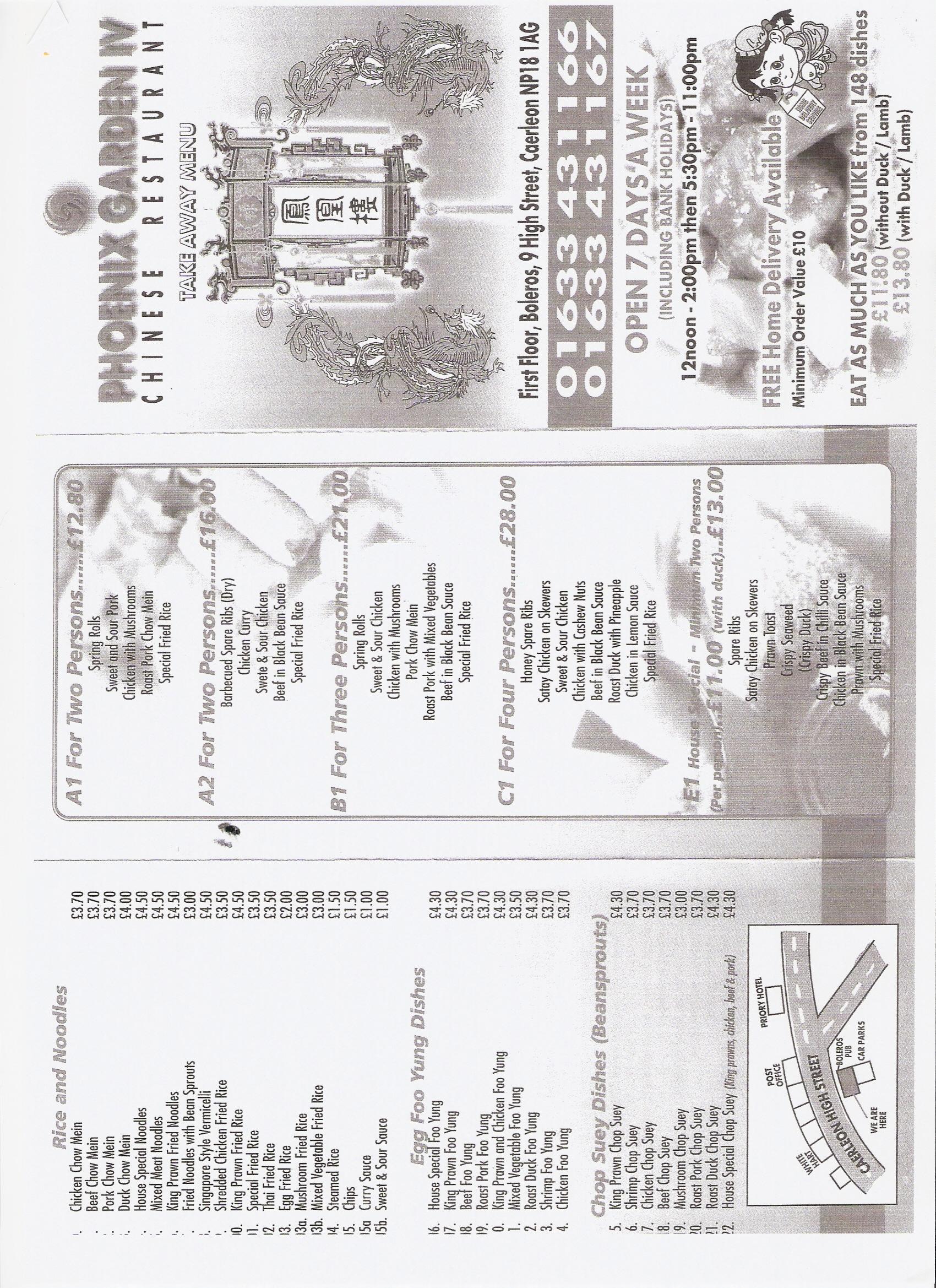 Caerleon Chinese Takeaway Restaurant Newport