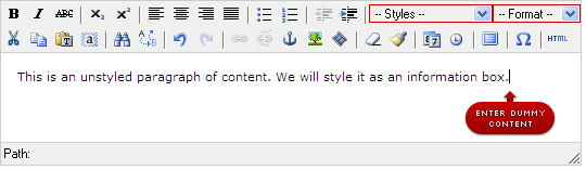 Step 2: Type in a phrase of example content