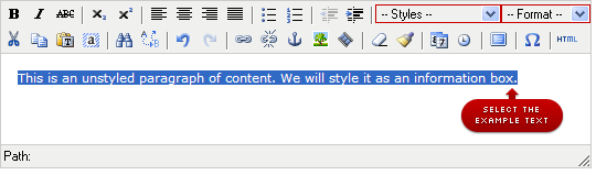 Step 3: Select the content