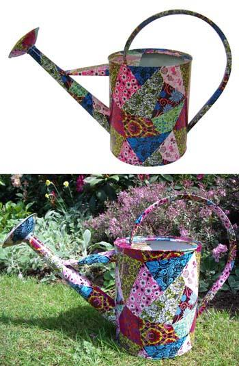 Garden Divas Patchwork Watering Can