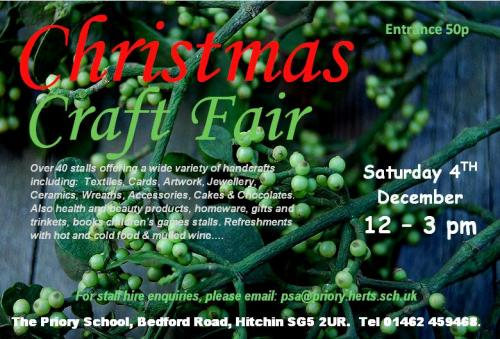 Priory Hitchin Christmas Craft Fair