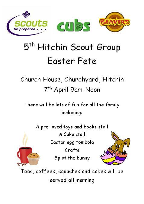 5th Hitchin Scout Group Easter Fete