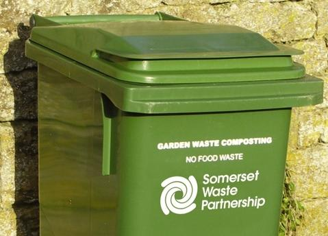SWP garden waste collection bin