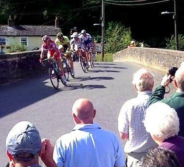 Tour of Britain 2009 ride through Dulverton, Somerset