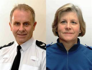 Sergeant Steve Crago and PCSO Sue Marks
