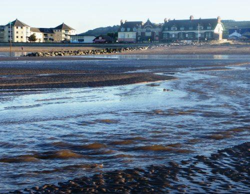 Minehead beachfront and waves