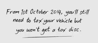 end of tax disk notification