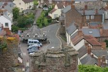 Dunster High Street view from Castle