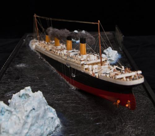 Scale Model of the ill fated liner - Titanic