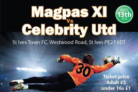 Celebrity Kick-off in aid of Magpas