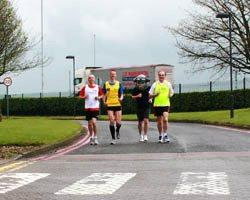 London Marathon 2012 runners from Leicestershire Constabulary