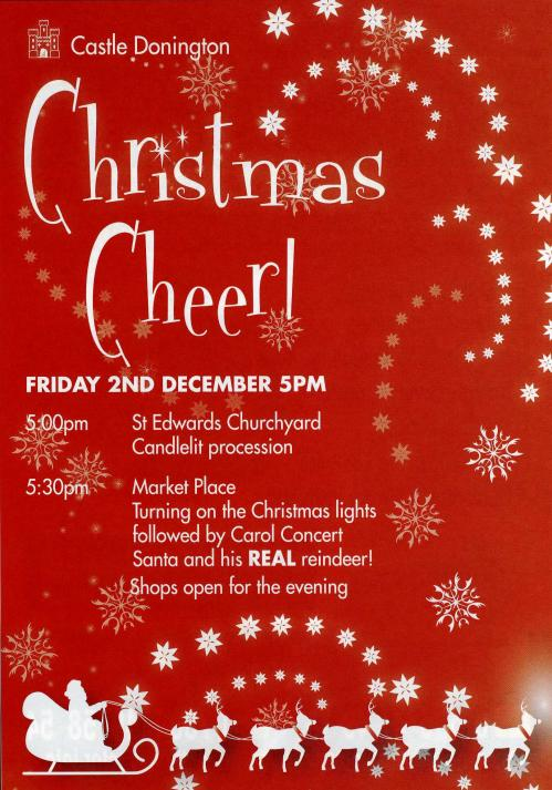 Christmas Event Posters Castle donington christmas