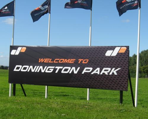 Donington Park welcome banner