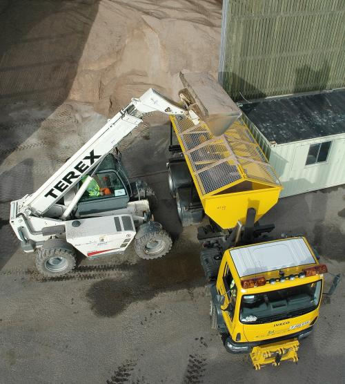 Leicestershire County Council gritter salt