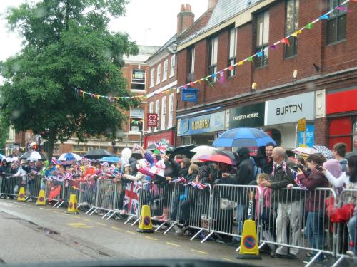 Olympic Torch Relay in Market Harborough, Leicestershire