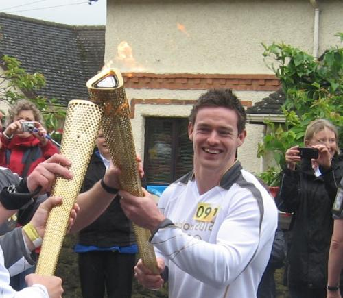 Olympic Torchbearer, Rich Smith of Castle Donington