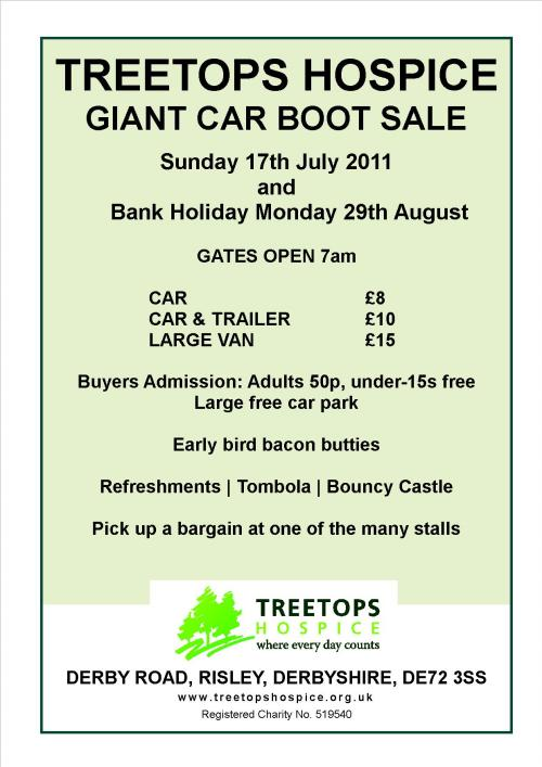 Treetops Hospice Risley Car Boot Sale