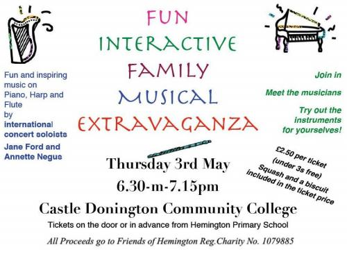 Castle Donington Community College Musical Extravaganza poster