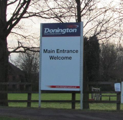 Donington Park welcome sign