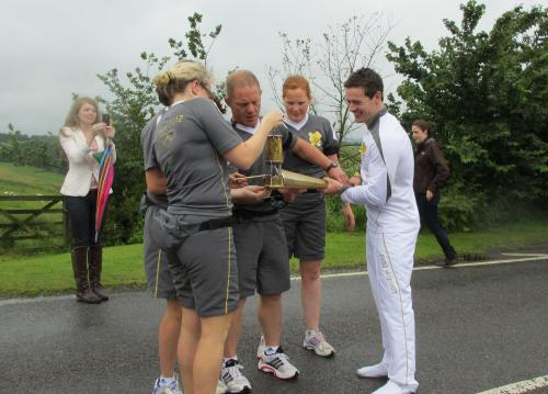 Olympic Torchbearer, Rich Smith of Castle Donington in Dingley, Leicestershire
