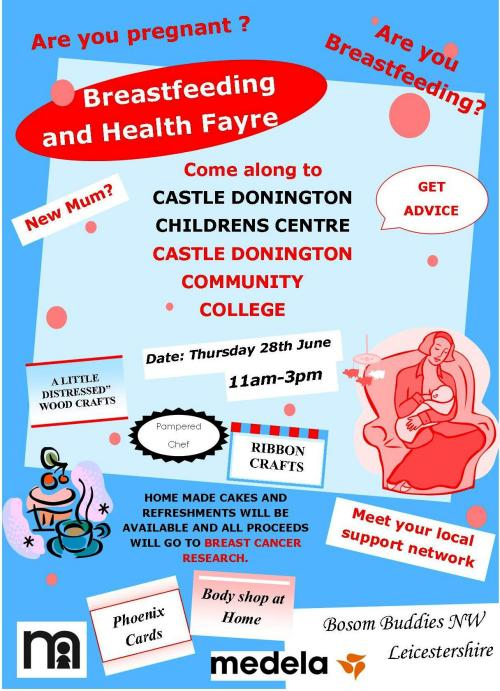 Breastfeeding and Health Fayre poster