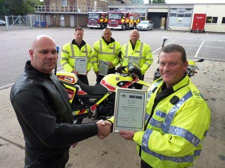 "Firefighters Assist Police to Train More ""Bike Safe"" Motorcyclists"