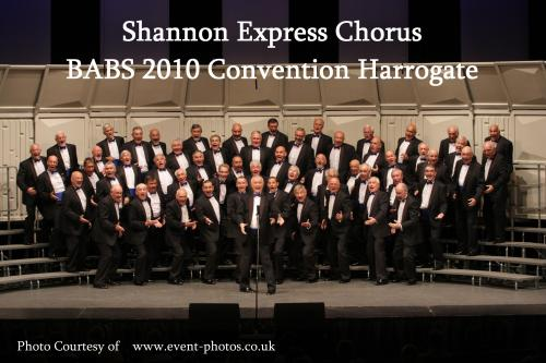 shannon express singers chorus barbershop male voice