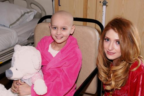 Nicola Roberts and Catherine Strickland in Alder Hey