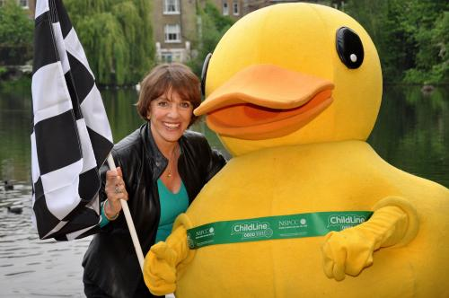 Esther Rantzen launches the Great British Duck Race photo by Ed Lawson