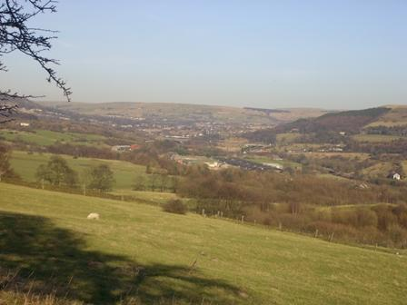 View of Rossendale from Helmshore Road