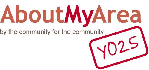 The AboutMyArea/YO25 Logo - By the Community For the Community
