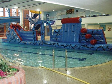 A new inflatable session in the pool at the Pavilion Leisure Centre, Withernsea, will provide thrills and spills for children. Every Friday evening, 7.30-9pm, Total Wipe Out, the centre's new pool inflatable, will be up during the aqua disco session.
