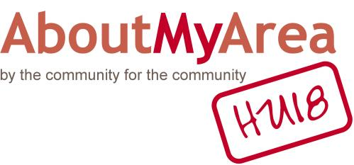 AboutMyArea/HU18 Logo - By The Community, For The Community