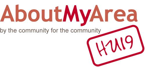 The AboutMyArea/HU19 Logo - By the Community For the Community
