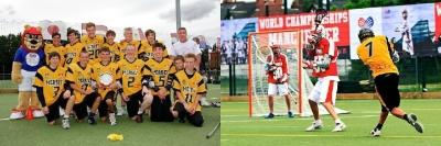 Pictured (above): Heaton Mersey's successful Under-16 Community Festival winning side...and in action (right)