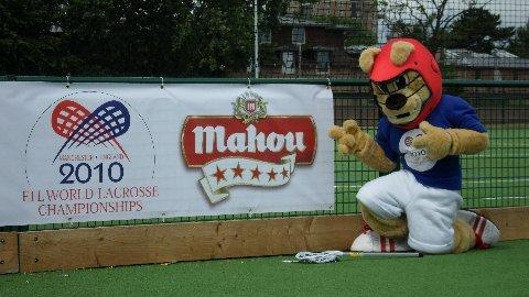 Pictured (above): Official 2010 FIL World Championships mascot Chester can't wait for the action to begin