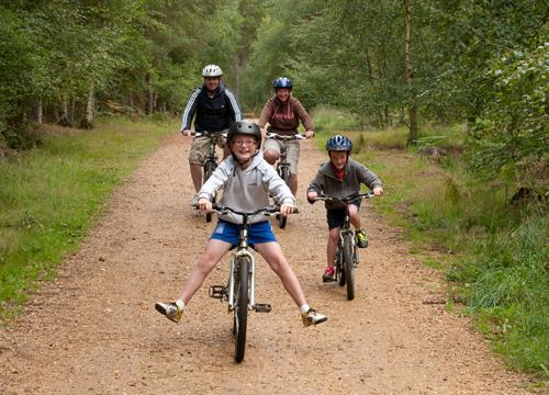 To celebrate National Bike Week the nation's forests are encouraging families to master those pedals