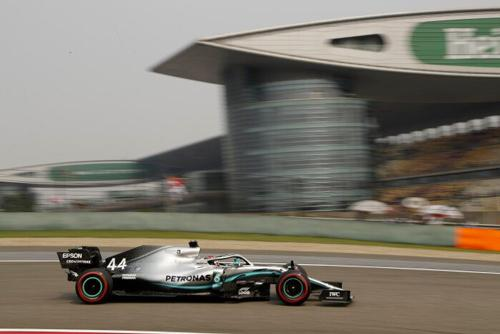Hamilton in during free practice in Shanghai