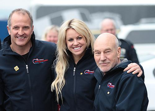 Steve Bull, Chemmy Alcott, Sir Patrick Stewart will be racing in the Celebrity Race at the 2012 Silverstone Classic.