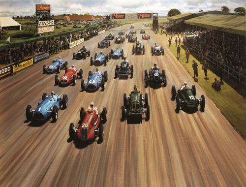 1948 Silverstone start. Copyright Michael Turner, from the collection of the Royal Automobile Club