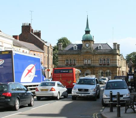 Towcester town hall and Market Square