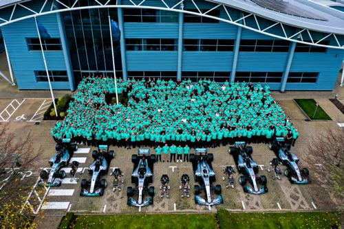 Mercedes-AMG Petronas Motorsport celebrates a record-breaking sixth consecutive Formula One World Championship double