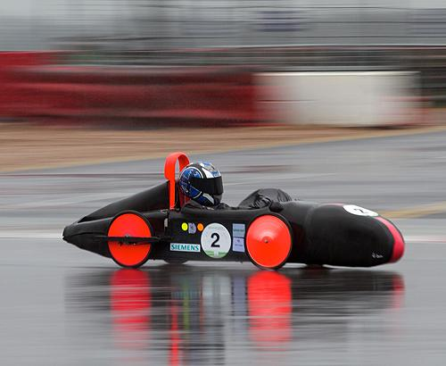 Greenpower 2012 at a very wet and windy Silverstone yesterday