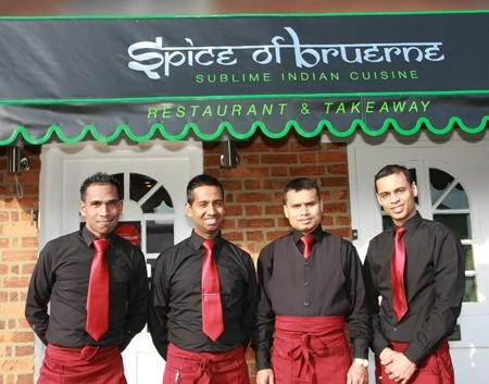 Abdul and his team outside the Spice of Bruerne