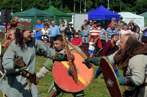 Thousands turn up for the Towcester town's 917 Saxon Fair