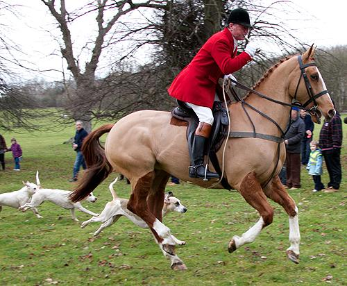 The Cavalry Charge of the Grafton Hunt at Easton Neston on Boxing Day 2011