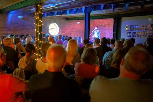 Headlining at the Mill this month will be TV comedians Dominic Holland and Jonny Awsum