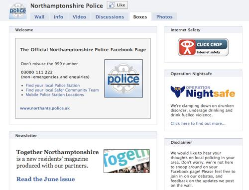 CEOP button added to Northants Police Facebook page
