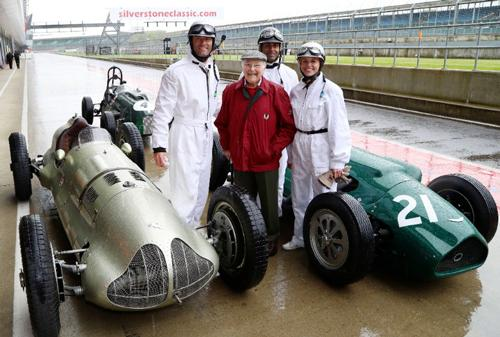 Mark Webber, Murray Walker, Karun Chandhok and Susie Wolff celebrate 70 years of Grand Prix racing at Silverstone