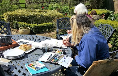 Inktense & Watercolour Workshop on special offer at Bay Tree Cottage